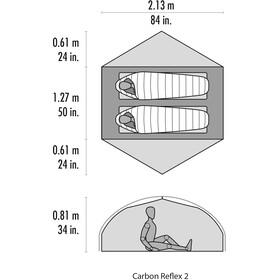 MSR Carbon Reflex 2 V5 Tiendas de campaña, green